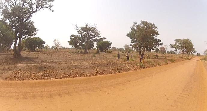Trabajadores cualquier pista de Senegal